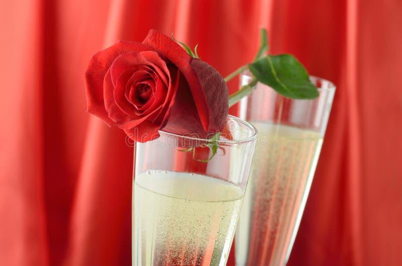 De Dag Champagne van de valentijnskaart stock afbeelding
