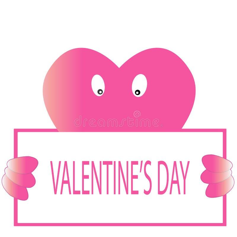 De dag rood hart van Valentine ` s royalty-vrije illustratie