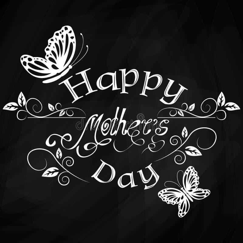De Dag uitstekende van letters voorziende achtergrond van gelukkige Moeders vector illustratie