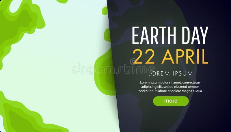 De Dag van de aarde Sparen het aardeconcept vector illustratie