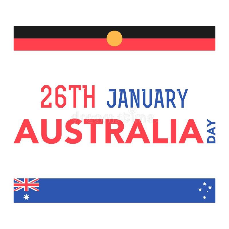 De Dag van Australië op 26 Januari stock foto's