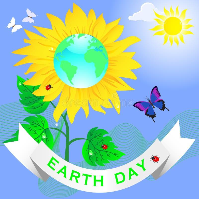 De dag van de aarde. stock illustratie