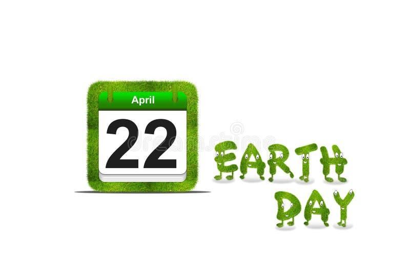 De dag van de aarde. royalty-vrije illustratie