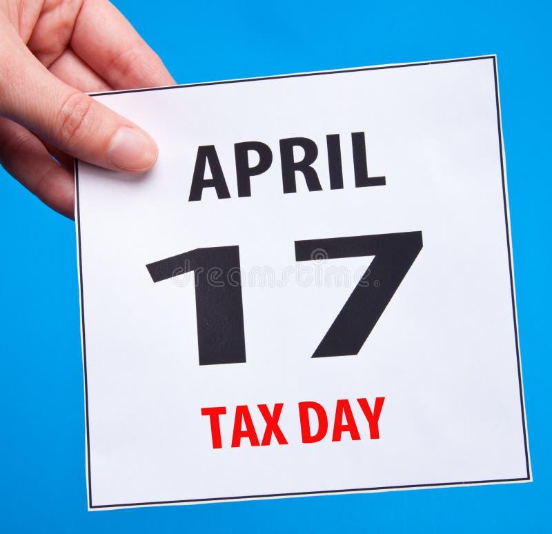 De dag van de belasting stock foto