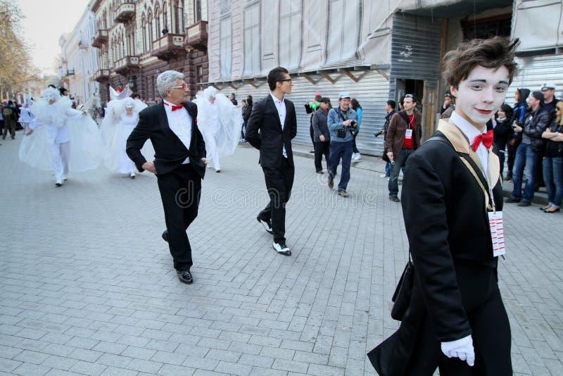 De Dag van de Dwazen van april in de Oekraïne. stock afbeelding