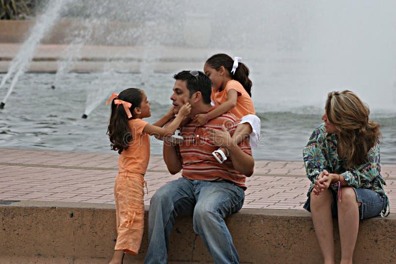 De Dag van de familie bij het Park stock foto