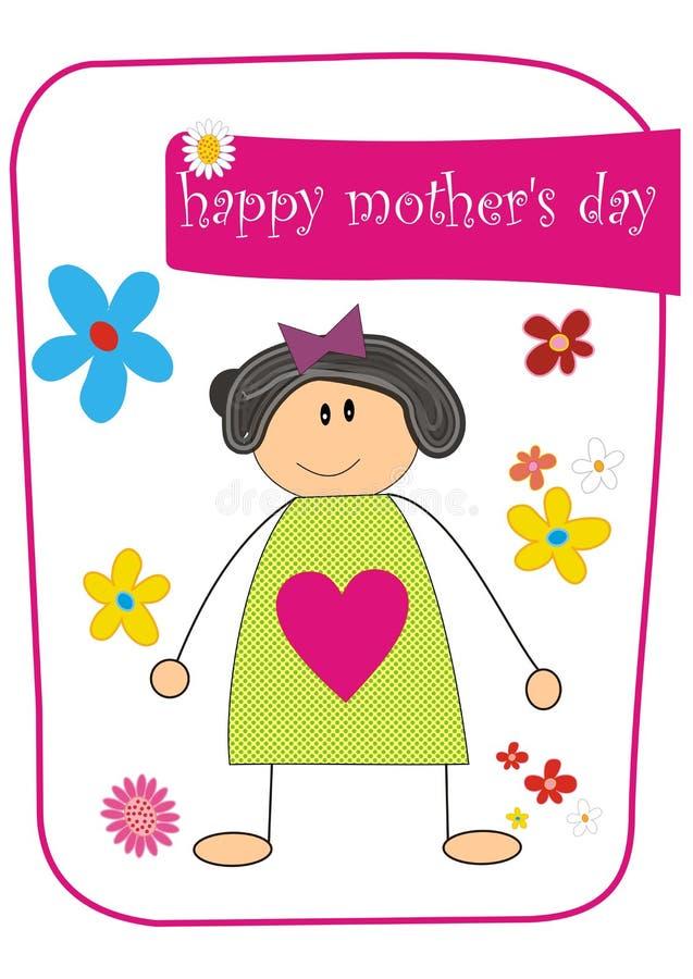 De dag van de gelukkige moeder stock illustratie