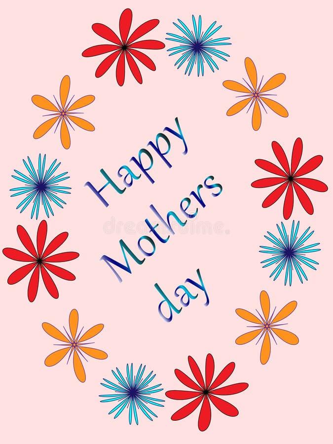 De dag van de gelukkige moeder vector illustratie