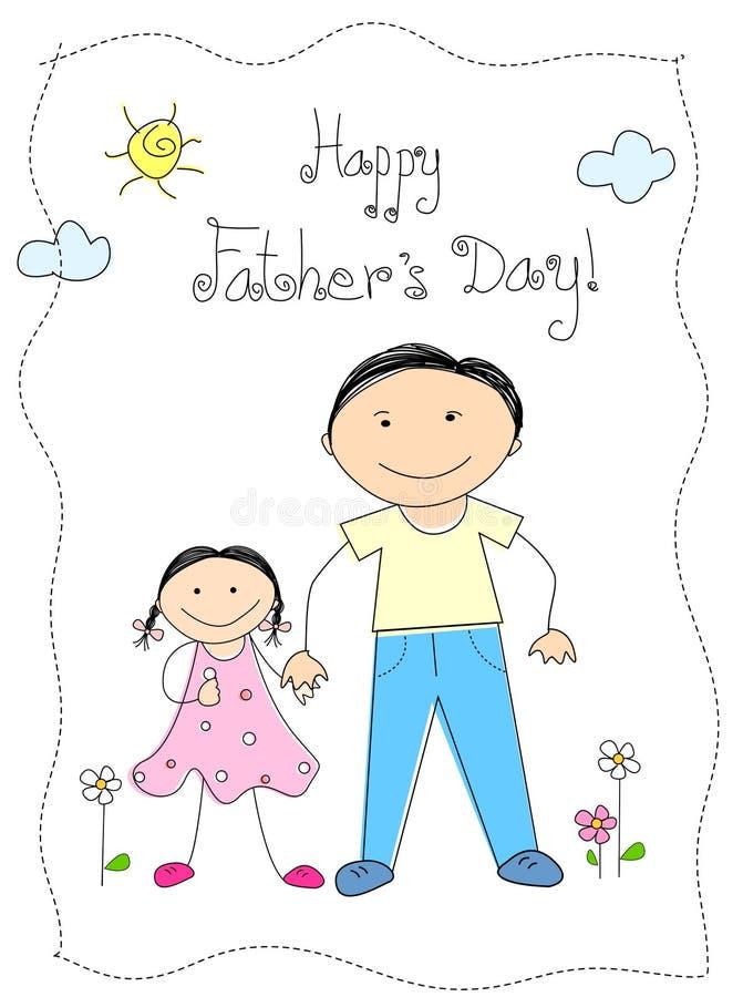De dag van de gelukkige vader royalty-vrije illustratie