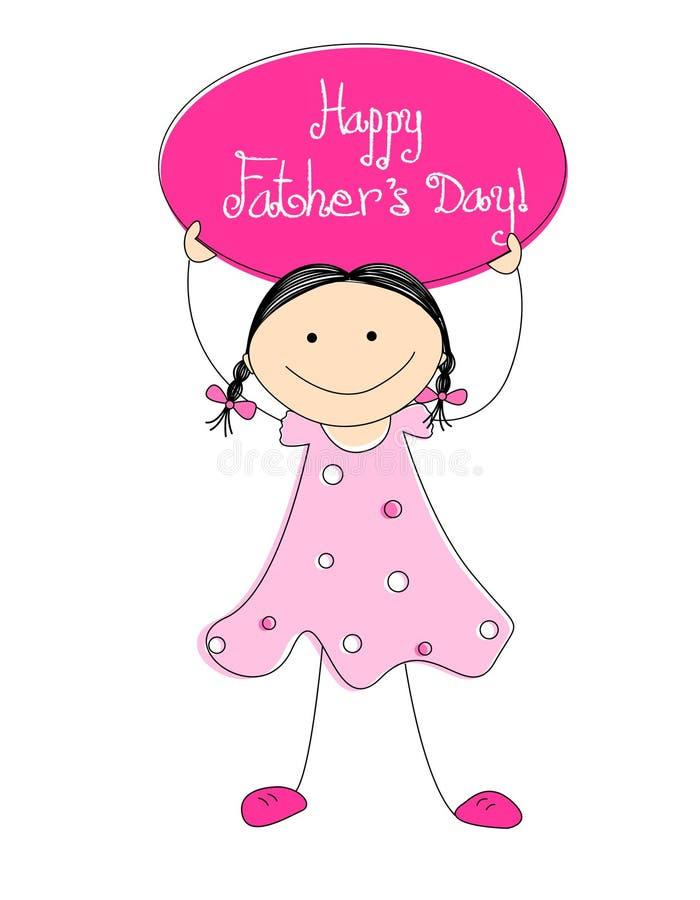 De dag van de gelukkige vader stock illustratie