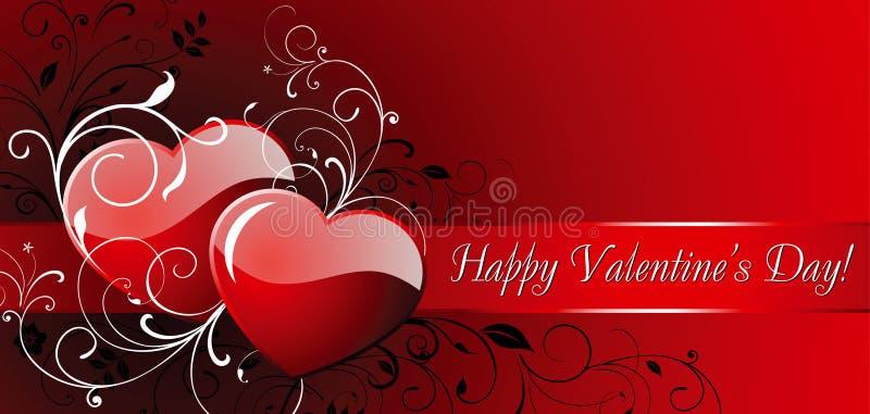 De dag van de gelukkige Valentijnskaart! stock illustratie