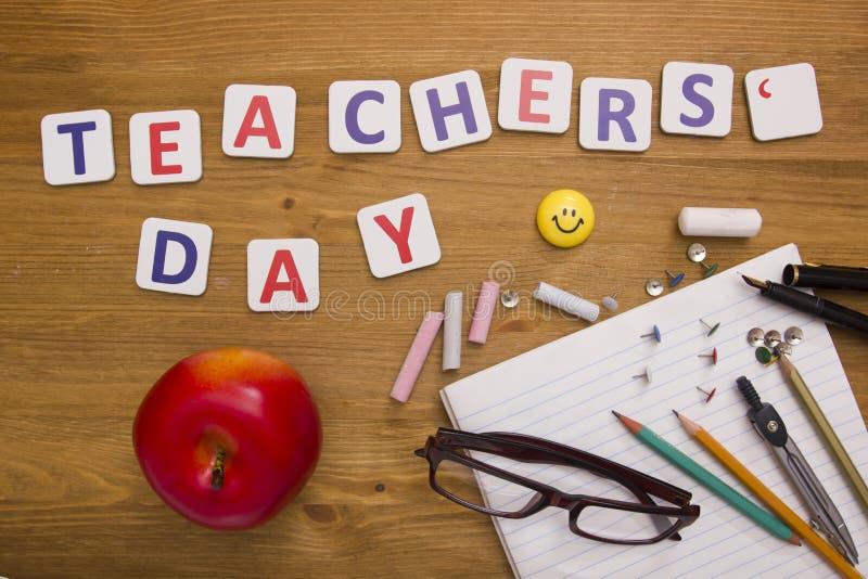 De dag van de leraren van de groetkaart stock afbeelding