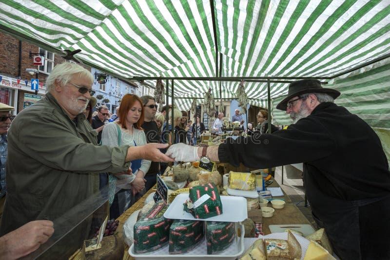 De Dag van de markt - Malton - Yorkshire - Engeland stock fotografie