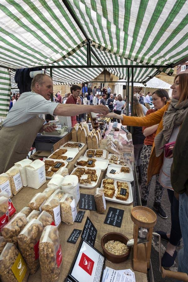 De Dag van de markt - Malton - Yorkshire - Engeland royalty-vrije stock foto's