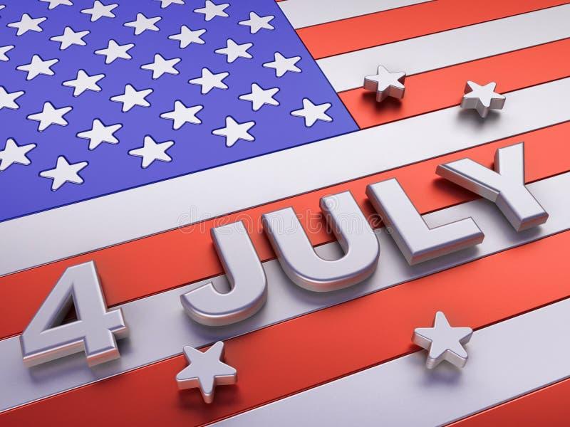 De dag van de onafhankelijkheid vector illustratie
