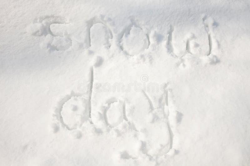 De dag van de sneeuw royalty-vrije stock afbeeldingen