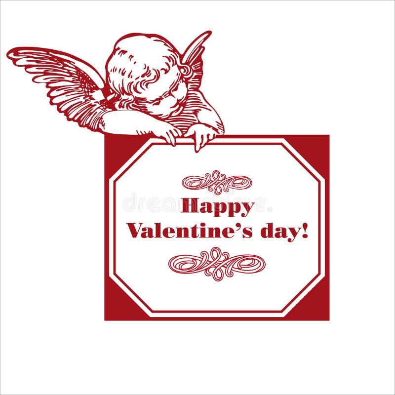 De dag van de valentijnskaart royalty-vrije illustratie
