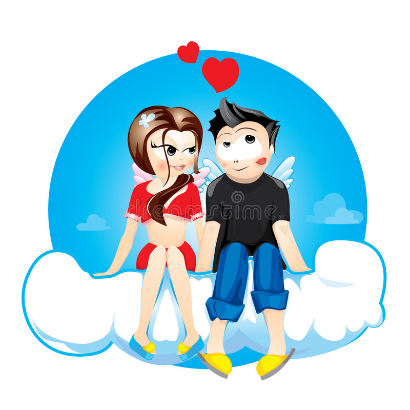 De dag van de valentijnskaart vector illustratie