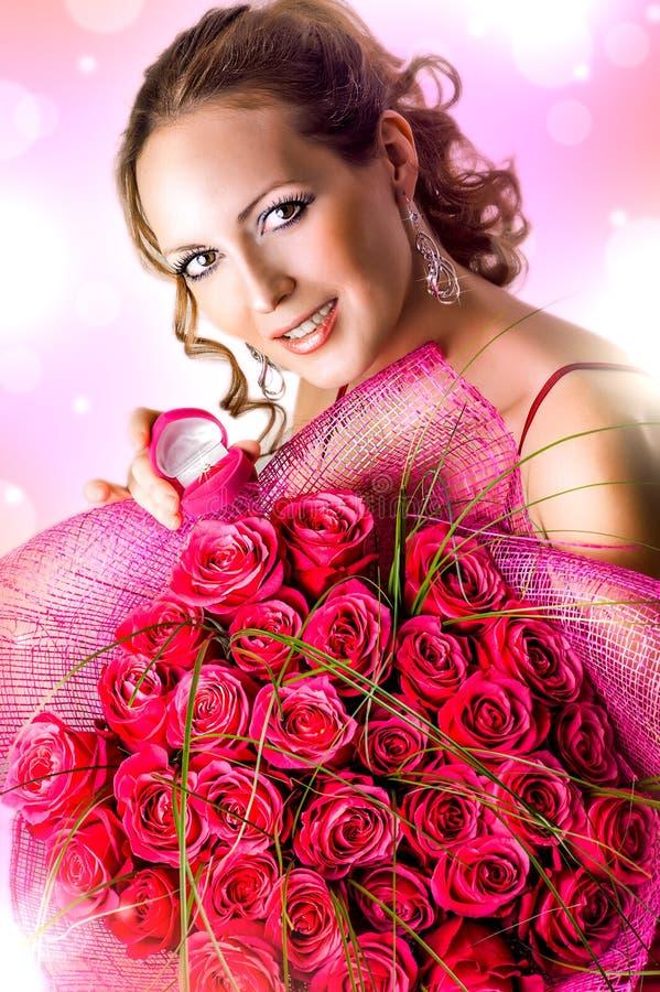 De Dag van de valentijnskaart. Aanzoek royalty-vrije stock foto