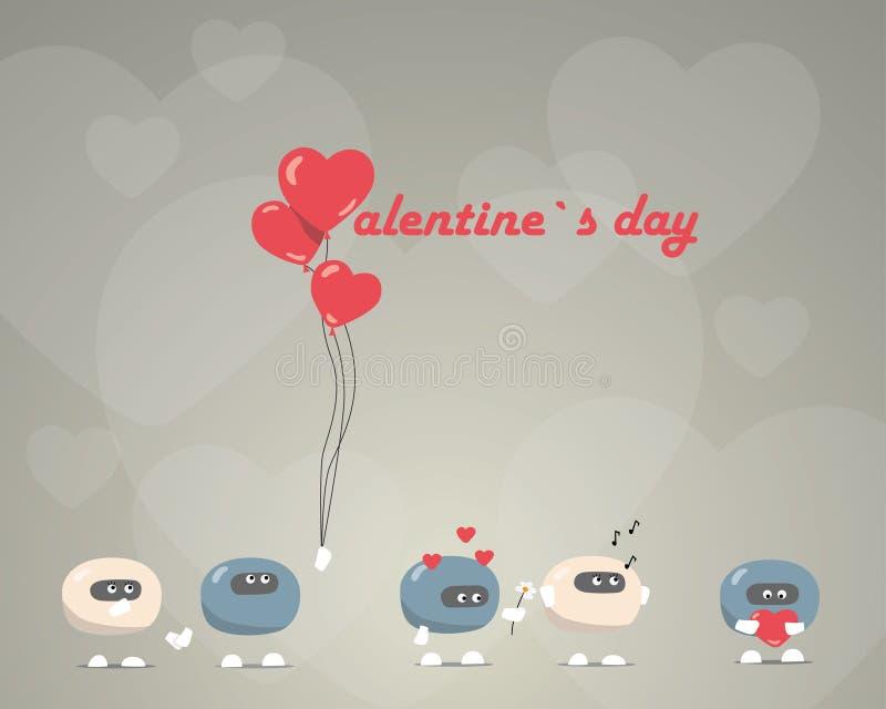 De dag van de valentijnskaart `s royalty-vrije illustratie