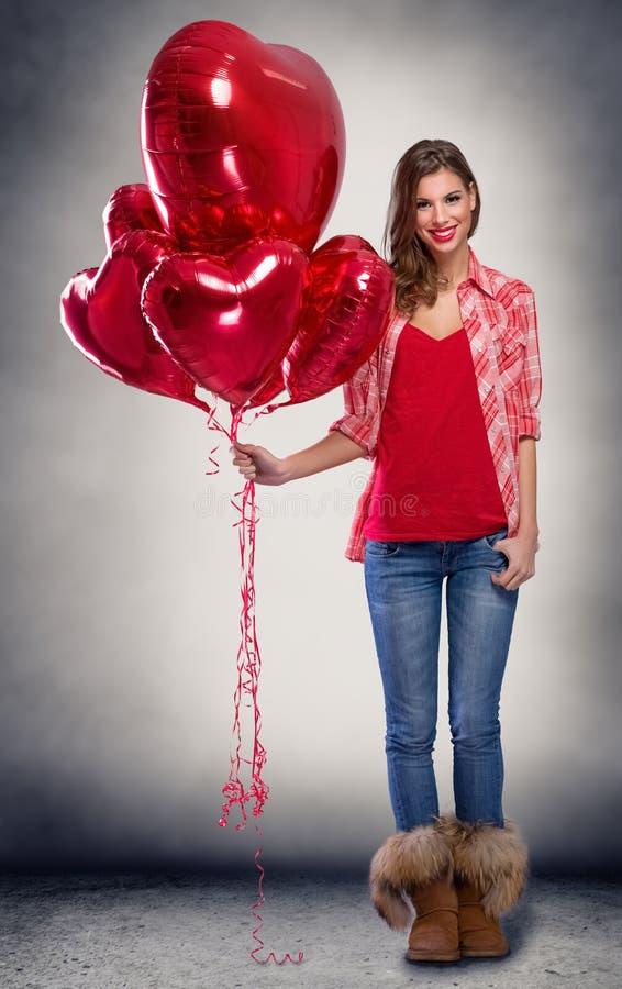 De dag van de valentijnskaart `s stock foto's
