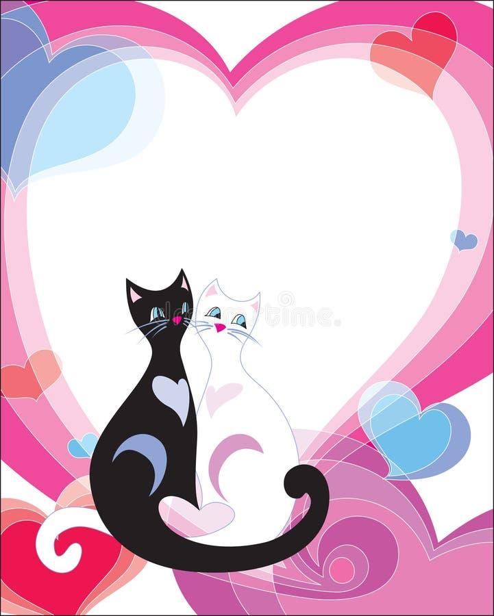 De dag van de valentijnskaart van Frame_st vector illustratie
