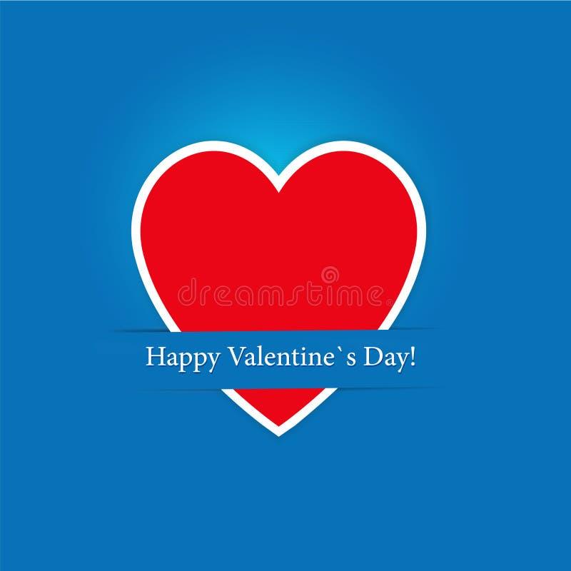 De Dag van de Valentijnskaarten van de kaart van de gift royalty-vrije illustratie