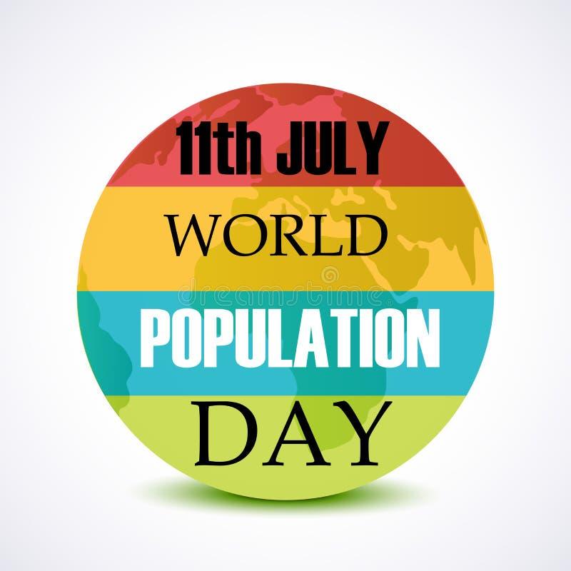 De Dag van de wereldbevolking royalty-vrije illustratie
