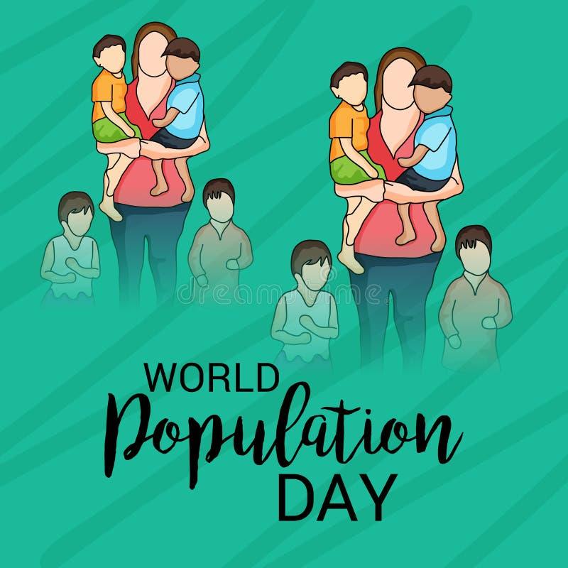 De Dag van de wereldbevolking vector illustratie