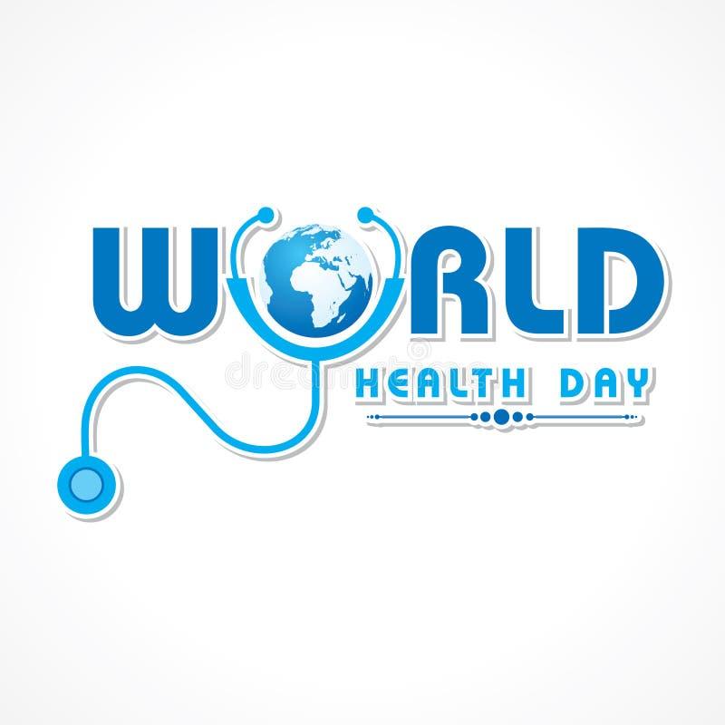 De Dag van de wereldgezondheid vector illustratie