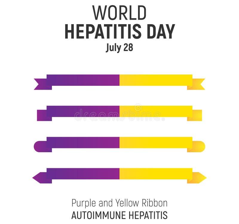 De Dag van de wereldhepatitis, 28 Juli, ontwerp royalty-vrije illustratie