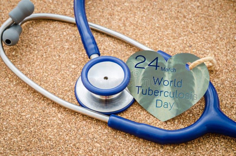 De Dag van de wereldtuberculose stock foto