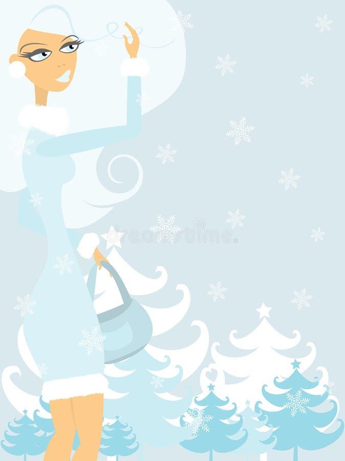 De dag van de winter royalty-vrije illustratie