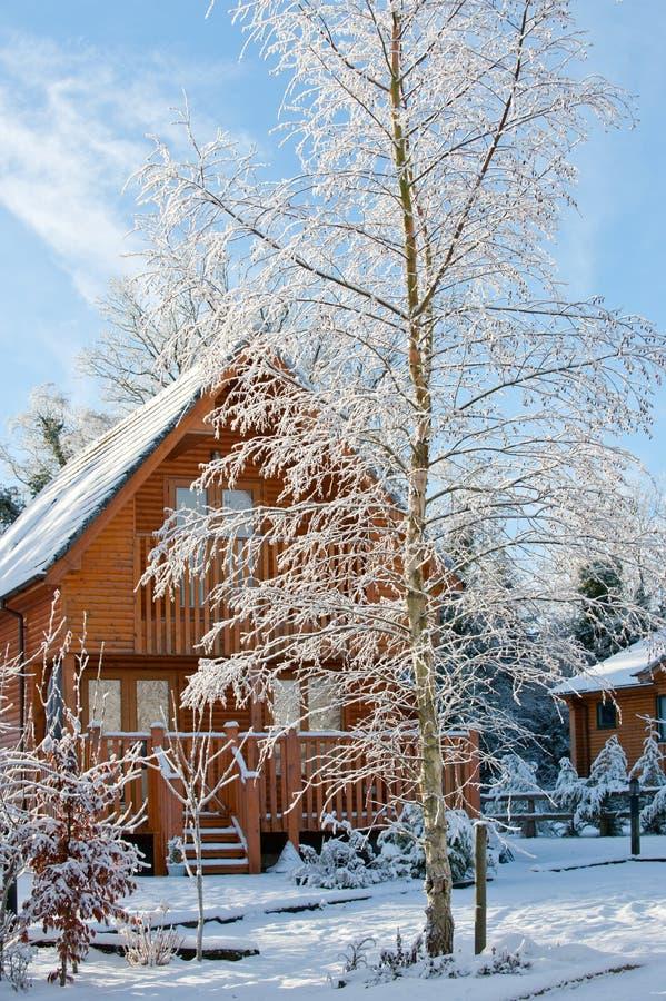 De dag van de winter in het dorp royalty-vrije stock afbeeldingen
