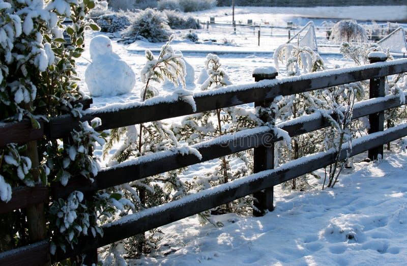 De dag van de winter in het dorp stock foto