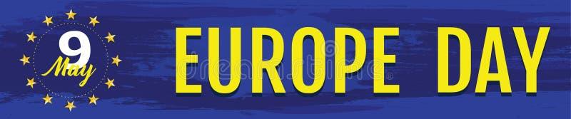 De Dag van Europa Jaarlijkse officiële feestdag in Mei stock illustratie