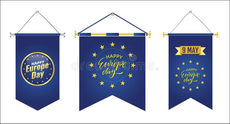 De Dag van Europa Jaarlijkse offici?le feestdag in Mei stock illustratie