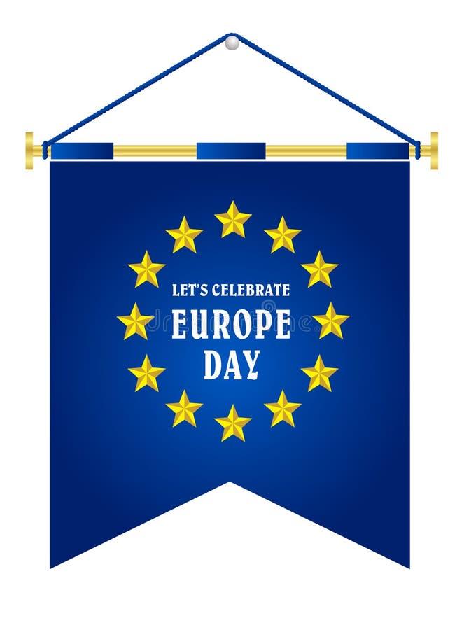 De Dag van Europa Jaarlijkse offici?le feestdag in Mei vector illustratie
