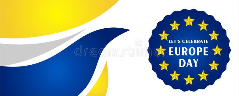 De Dag van Europa Jaarlijkse offici?le feestdag in Mei royalty-vrije illustratie