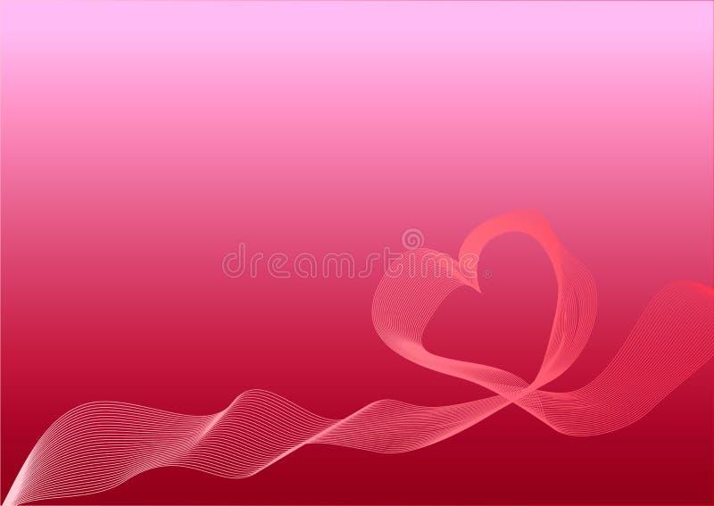 De Dag van Gelukkig Valentine van de groetkaart op een heldere rode achtergrond royalty-vrije illustratie