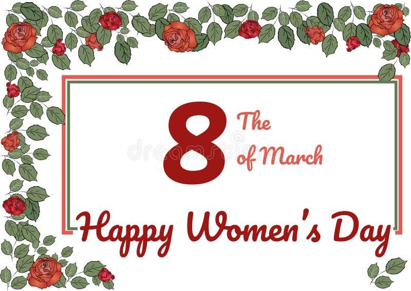 De dag van de gelukkige vrouwen van de groetkaart stock illustratie