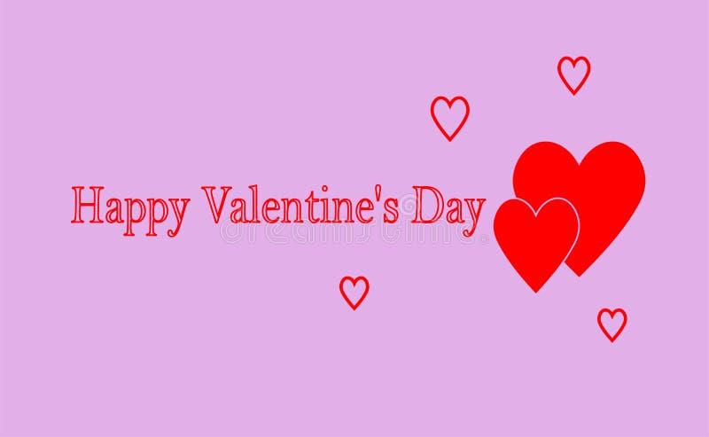 De Dag van Greeting_card_ 'Gelukkig Valentine ' stock illustratie