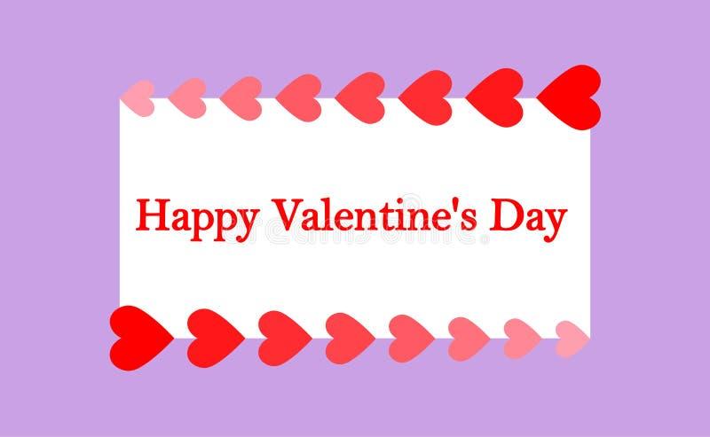De Dag van Greeting_card_ 'Gelukkig Valentine ' vector illustratie