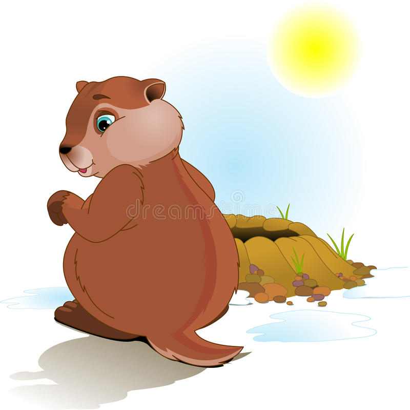 De Dag van Groundhog stock illustratie