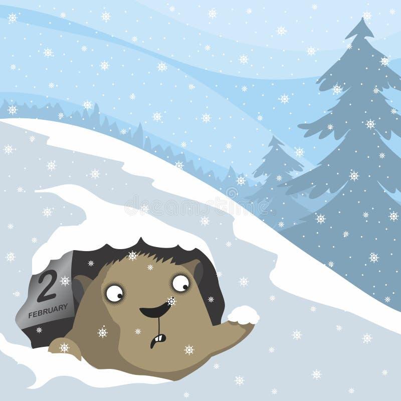 De Dag van Groundhog royalty-vrije illustratie