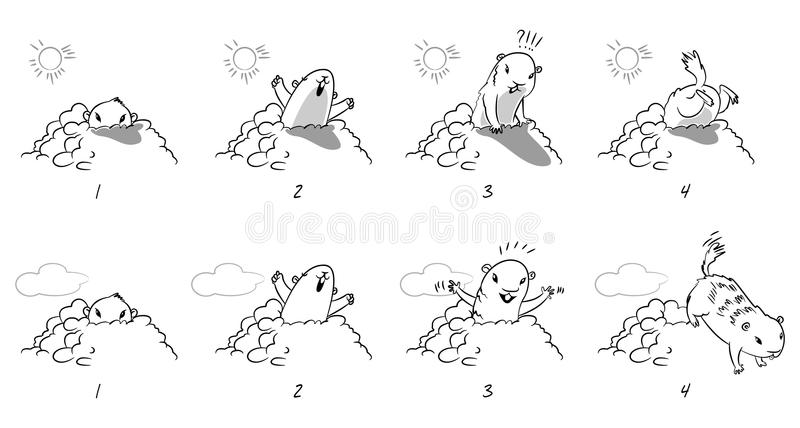 De Dag van Groundhog vector illustratie