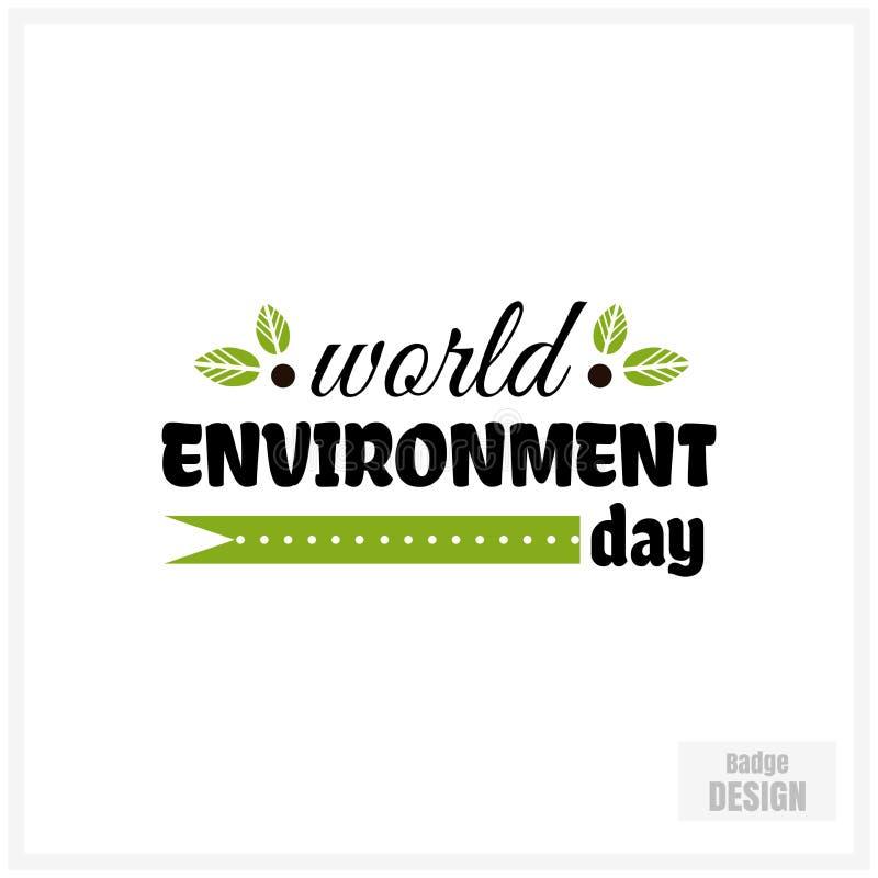 De Dag van het Milieu van de wereld royalty-vrije illustratie