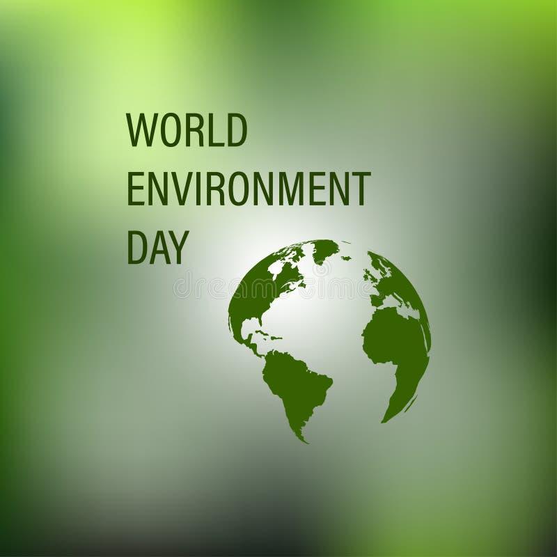 De Dag van het Milieu van de wereld stock illustratie