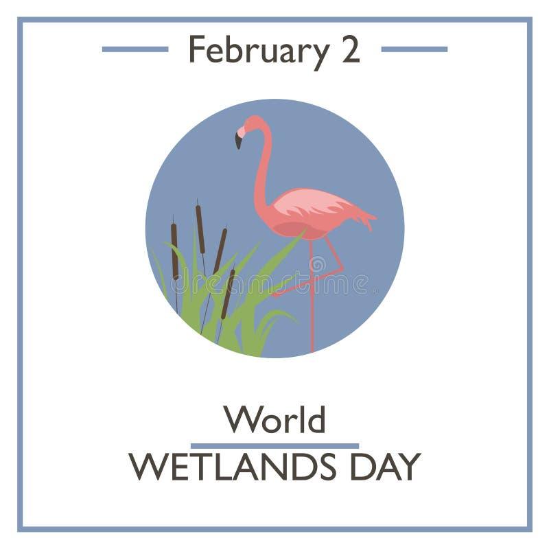 De Dag van het wereldmoerasland 2 februari royalty-vrije illustratie