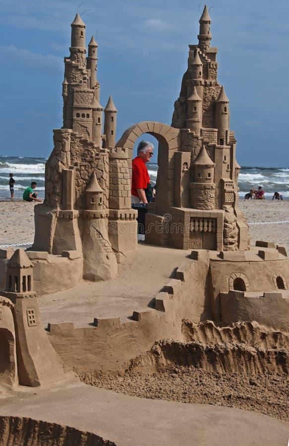 De Dag van het zandkasteel op Eiland II van de Aalmoezenier van het Zuiden royalty-vrije stock afbeeldingen